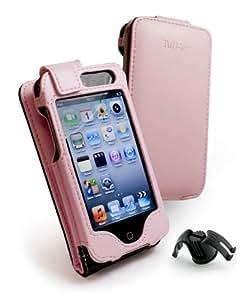 Tuff-Luv Veggie - Funda de cuero para Apple iPod touch 4 y 4G, color rosa