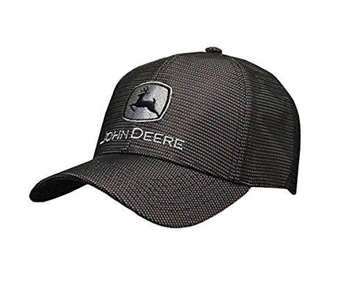 John Deere Gray and Black Reflective Hat