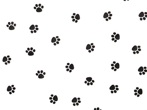 Animal Print Tissue Paper for Gift Wrapping 24 Decorative Sheets 20'' X 30'' (Black Paws) by GBBD
