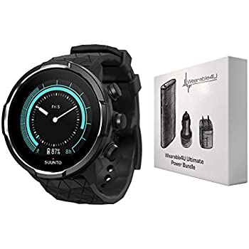 Suunto 9 Baro Durable Multisport GPS Watch with Barometric Altitude and  Wearable4U Power Pack Bundle (Titanium) cf73503316c