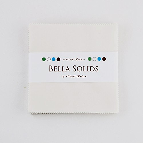- Bella Solids Feather White Moda Charm Pack By Moda Fabrics; 42-5