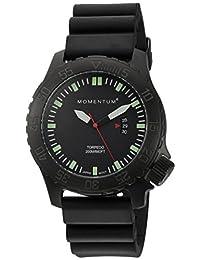 Momentum Men's 1M-DV76B1B Analog Display Japanese Quartz Black Watch