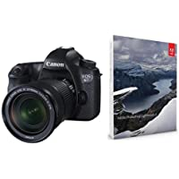 Canon EOS-6D Digital SLR Camera Kit with EF 24-105mm F3.5-5.6 IS STM Lens - Bundle with Adobe Photoshop Lightroom 6 Software