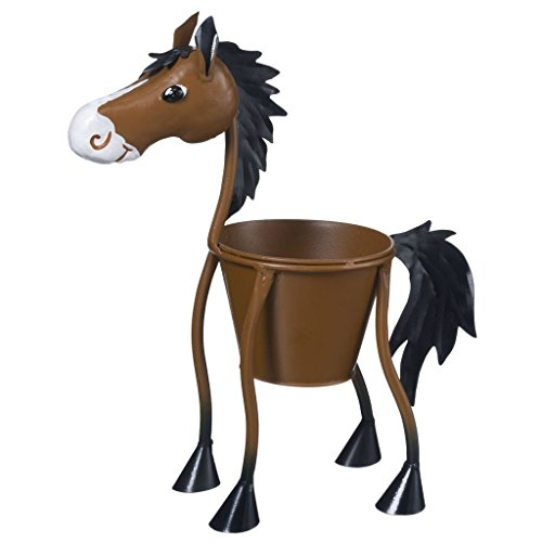 Tough-1 Western Planter Yard Decor Small Horse Brown 27-99815