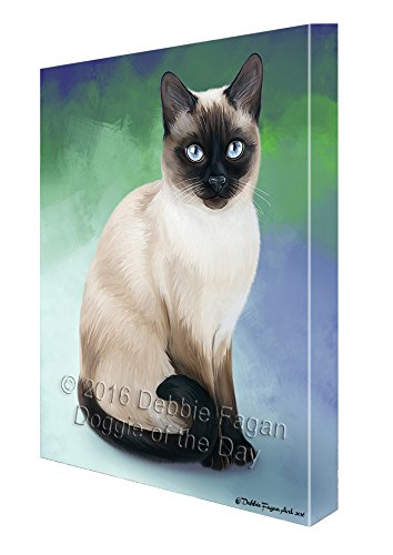 Thai Cat Canvas Wall Art (18x24) by Doggie of the Day