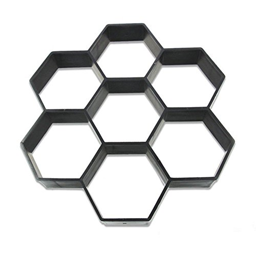 DIY Road Laying Plastic Mold Concrete Paver Mold Manual Laying Cement Masonry Road Auxiliary Tools Paving Stone Garden Lawn Stone Mold 15.8X 15.8 (Hexagon)