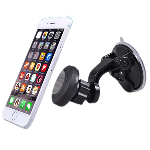 Price comparison product image Universal Car Cell Phone Holder Window Windshield Phone Mount Magnetic Mobile Holder Support Ipad Stand Voiture For Iphone 6S Plus 6 7 Plus Samsung Galaxy S4 Note Magnetic Phone Mount Aueye
