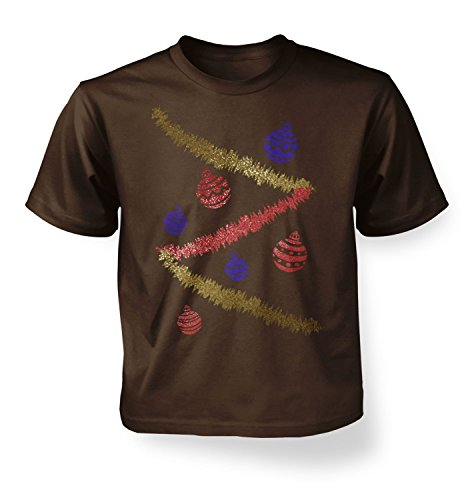 [Christmas Tree Costume Kids T-shirt - Dark Chocolate M (7-8)] (Dark Chocolate M&m Costume)