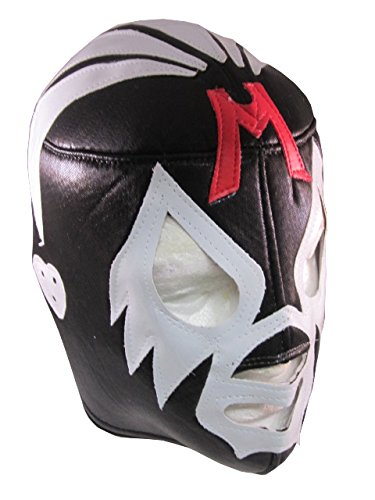 MIL MASCARAS Lucha Libre Wrestling Mask (pro-fit) Costume Wear - Black/Grey by Leos Imports