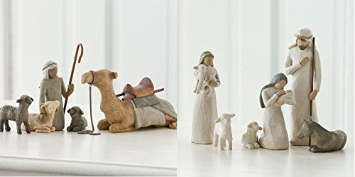 Demdaco Nativity (Willow Tree Nativity Holy Family and Shepherd and Stable Animals Set of 10 Figures)