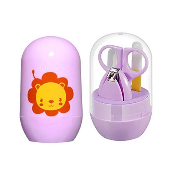 BEN CARTER Plastic Grooming Kit with Scissors for Baby Shower (Light Purple)