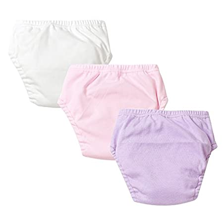 Baby Girls Potty Training Pants Cotton Interlining Underwear Toddler 3-Pack, 2T KidsStyle