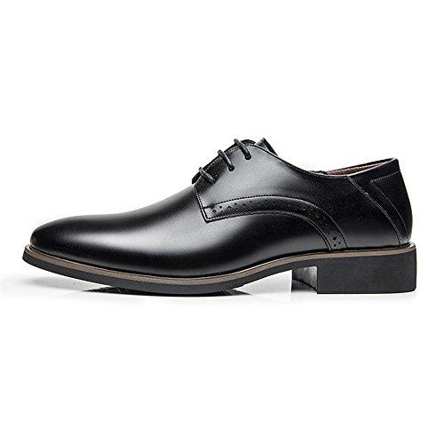 Cordones Oxfords agujero La Negro Los Pu zapatos Simples Hombres Transpirable Zapatos Cuero De Jialun Opcional wzURxqpFn