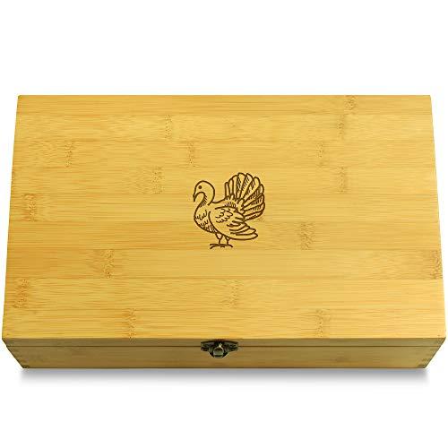 Cookbook People Turkey Redneck Multikeep Box - Moving Wall Sustainable Bamboo Adjustable Organizer