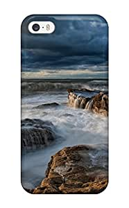 Brooke Galit Grutman's Shop Defender Case For Iphone 5/5s, Water Waves On Rocks Pattern