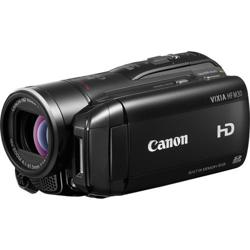Canon VIXIA HF M30 Full HD Camcorder with 8GB Flash Memory (Renewed) (Canon Sm V1 5-1 Channel Surround Microphone)