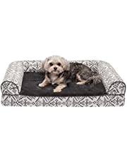 Furhaven Pet - Orthopedic Living Room Sofa-Style Couch Dog Bed for Dogs & Cats - Multiple Styles, Sizes, & Colors