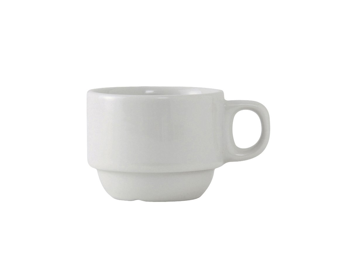 Tuxton ALF-0303 Vitrified China Alaska/Colorado Accessories Stackable Demitasse Cup, 3 oz, Porcelain White (Pack of 36), Oven-Microwave-Pressure Cooker Safe; Freezer to Oven Safe