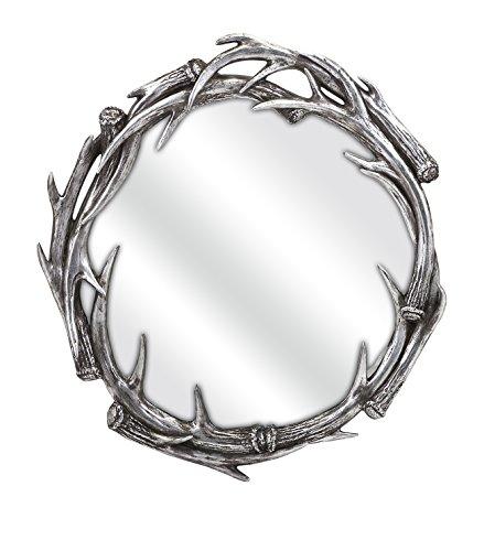 36215 Aspen Antler Mirror Silver