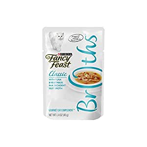 Purina Fancy Feast Broths Classic With Tuna & Vegetables Wet Cat Food Complement - (16) 1.4 oz. Pouches