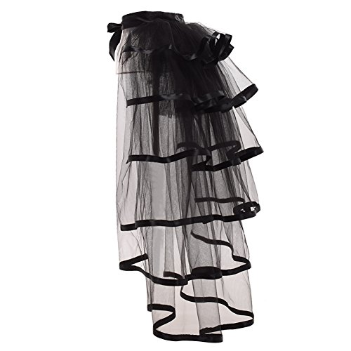 GRACEART Victorian Steampunk Tie-on Bustle Costume Tutu Belt Lace -