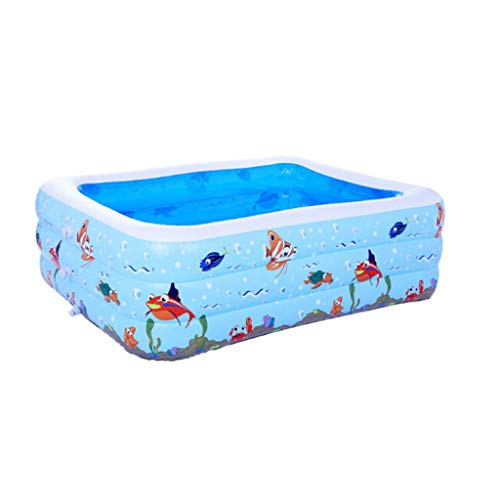 HQCC Piscina Inflable de los niños de Gran tamaño Inflable Familia bañera Grande Engrosada 2,6 Metros (Tamaño : 262 * 175...