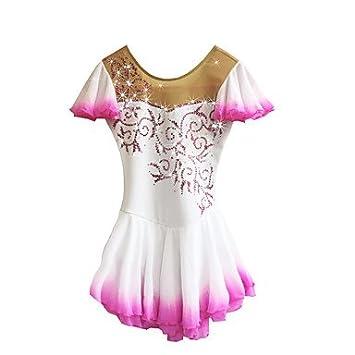 0f428eb8f Heart&M Vestido de Patinaje Artístico para Niñas Mujeres Competencia ...