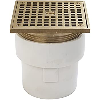Zurn Fd2211 Pvc St Adjustable Floor Drain With Square Top