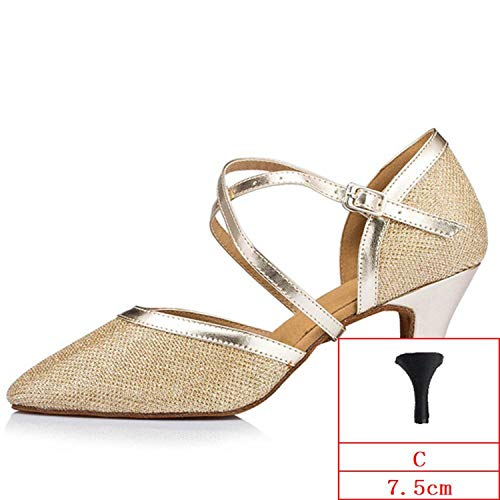 Professional Latin Satin Ballroom Dance Shoes,Multi,5