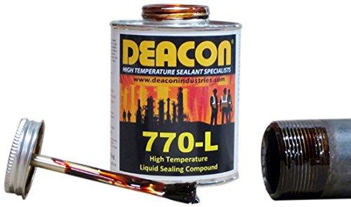 (Deacon 770-L PBT High Temperature Liquid Sealant, 200 Degree F to 950 Degree F, 1 Pint Brush Top)