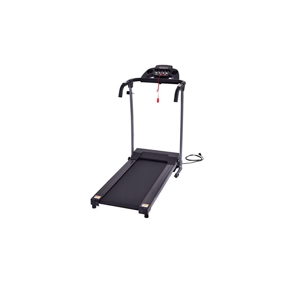 Goplus 800W Folding Treadmill Electric Motorized Power Fitness Running Machine W/Mobile Phone Holder