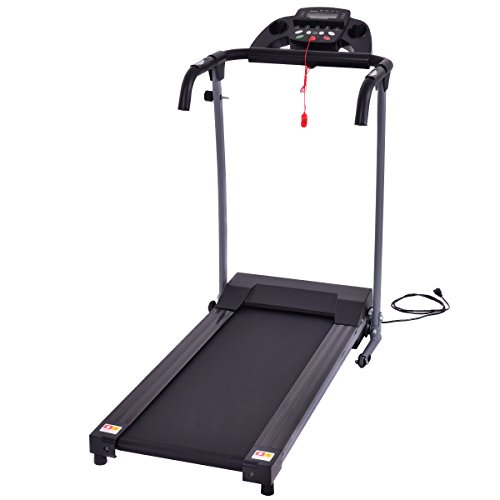 Goplus 800W Folding Treadmill Electric Motorized Power Fitness Running Machine w/support