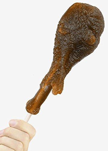 GIANT GUMMY TURKEY LEG Lollipop (On a Stick) 1/2lb- Cola (Leg Turkey)