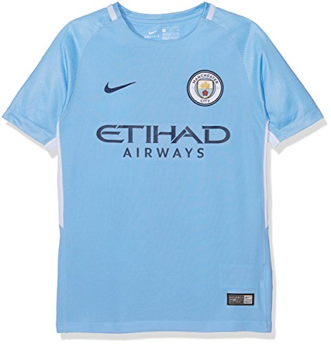 (Nike Youth Breathe Manchester City FC Stadium Jersey [Field Blue] (L))