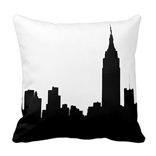 hgdsafiga Customize Funny Throw Pillows Cover Cases NYC Skyline Silhouette Empire State Bldg #1 18