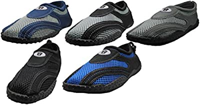 Men's Water Shoes Aqua Slippers Yoga Exercise Socks With Drawstring Closure Sizes 7 - 14