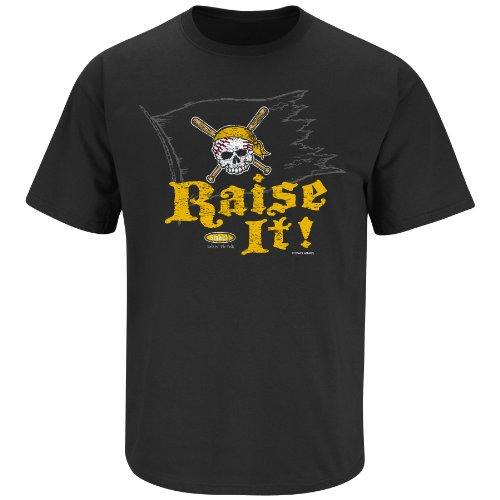 (Pittsburgh Baseball Fans. Raise It! Black T-Shirt (Small))