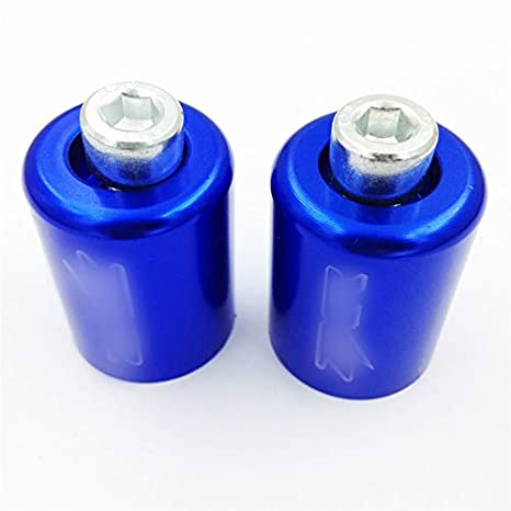 USMT220-009-BLUE-NOLOGO Blue Bar Ends Compatible With Kawasaki Ninja 250 500 Zx600 Zx6 636 Zzr600 Zx6R Zx6Rr NOLOGO HTTMT