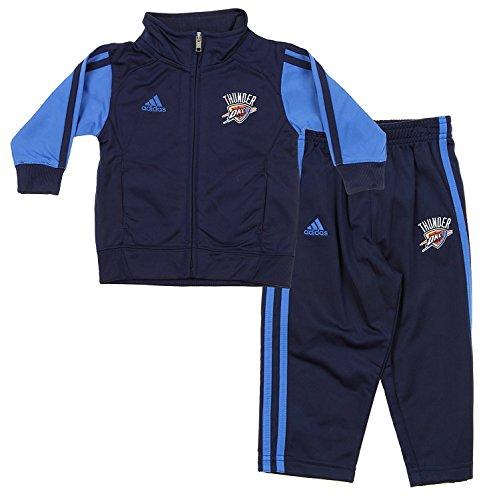 NBA Little Boys Infants Full Court Track Jacket Pants Set, Various Teams (Oklahoma City Thunder, 24 ()