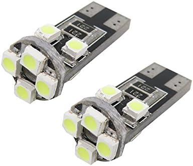 Unipower TMT Leds(TM) Bombillas LED Canbus T10 W5W 8 Leds SMD 2835 160 Lumenes Blanco Matricula Posicion Interior Coches Motos (Paquete de 2)