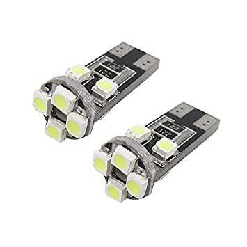 Unipower TMT LEDS(TM) 2 X BOMBILLAS LED CANBUS T10 W5W 8 LEDS SMD 2835 160 LUMENES BLANCO MATRICULA POSICION INTERIOR COCHES MOTOS: Amazon.es: Coche y moto