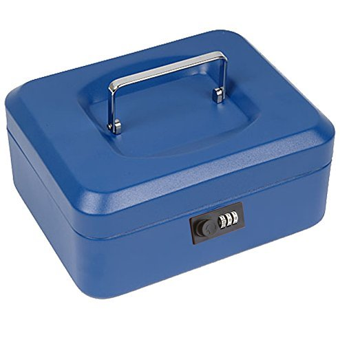Cheap  8'' Locking Steel Cash Box with Combination Lock, Unbreakable Metal Cash Box,..