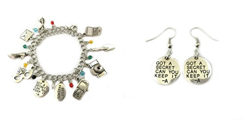 2 Pack Pretty Little Liars Earrings & Bracelet w/gift box from Outlander -
