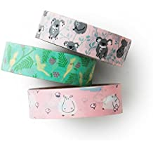 Washi tape set - hippo and koala - value pack - plannersticker - Love My Tape