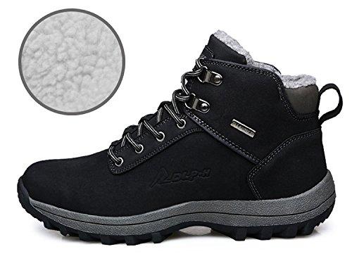 Forro Zapatos 39 Piel Impermeables Trekking 46 Sneakers Botas Nieve Senderismo Hombre De Khaki Deportes Negro Rioneo Marrón q8RTUzxn