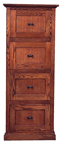 Forest Designs Mission Four Drawer File Cabinet, 56