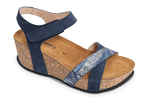 In Zeppa Fussbet Made Donna Italy Blu G51402 Valleverde Tipo Con Calzatura qwIIp8
