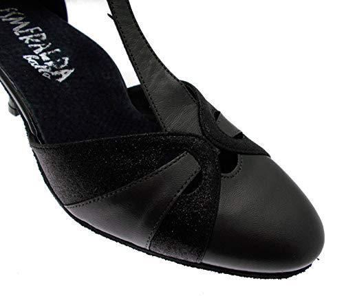 Laccetto Ballo Sandalo Nero 38 133 Scarpa Chiuso Nero HwCqznf7