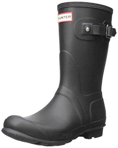 Hunter Womens Original Short Black Matte Rain Boot,