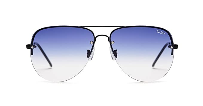 cf7434899a0b2 Quay Muse Fade Silver Blue Sunglasses (Black